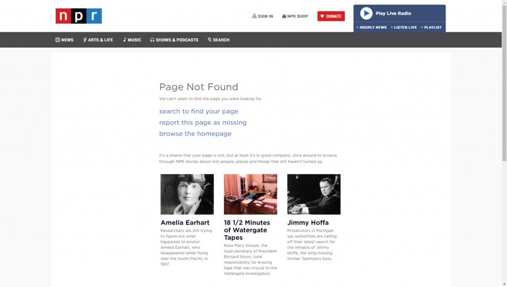 NPR 404