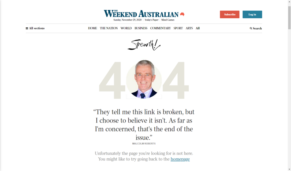 The Australian 404
